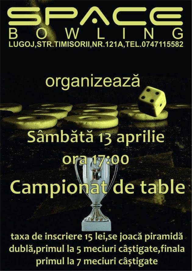clubul space bowling lugoj campionat de table 14 aprilie lugojenaul 2013
