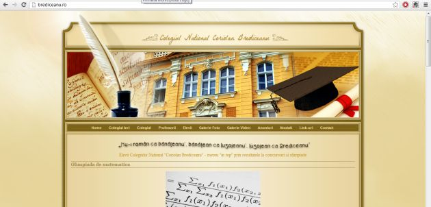 colegiul national coriolan brediceanu pagina web foto lugojeanul 2013