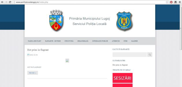 politia locala lugoj pagina web foto lugojeanul 2013