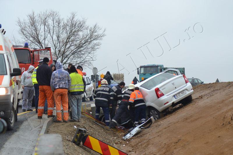 accident grav traian vuia timis lugojeanul 2013 3 aprilie victima incarcerata masina distrusa (1)