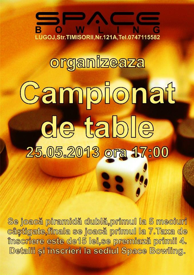 clubul space bowling lugoj campionat de table recomandare lugojeanul 2013