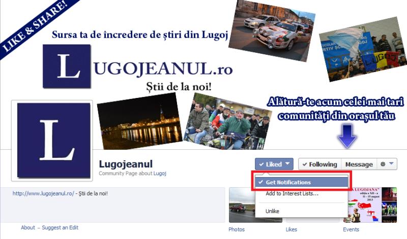 lugojeanul notificari facebook pagina stiri lugoj permanent evenimente oras timis