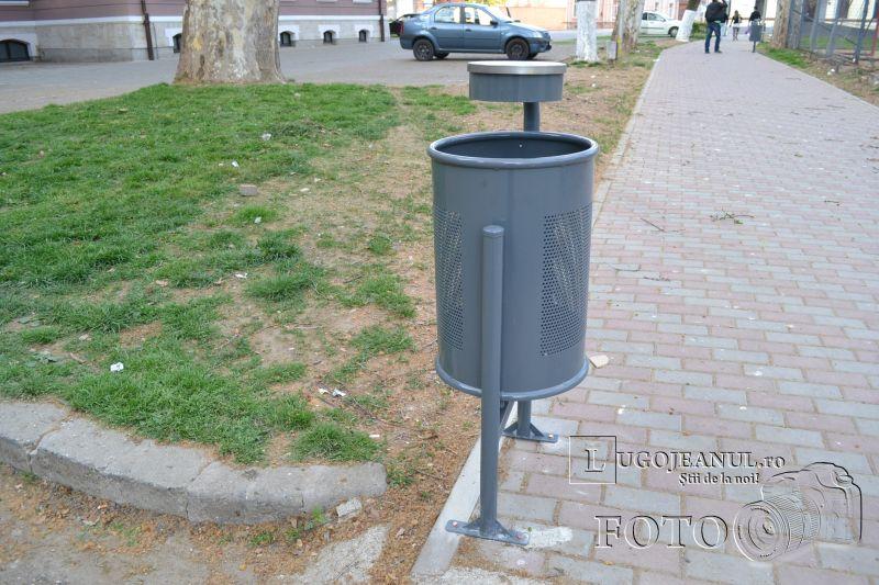 banci si cosuri de gunoi lugoj parcul prefecturii (3)