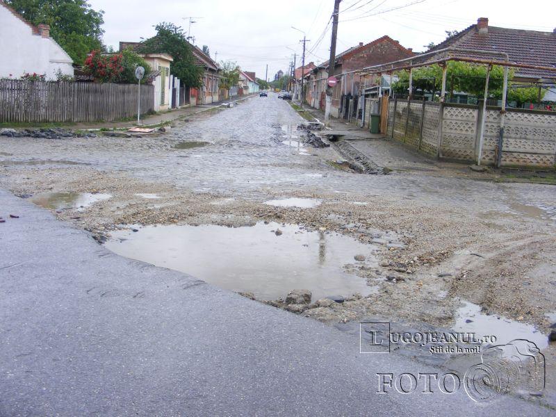 strada vlad tepes lugoj gropi noroi apa asfalt foto galerie mai 2014 lugojeanul foto (5)