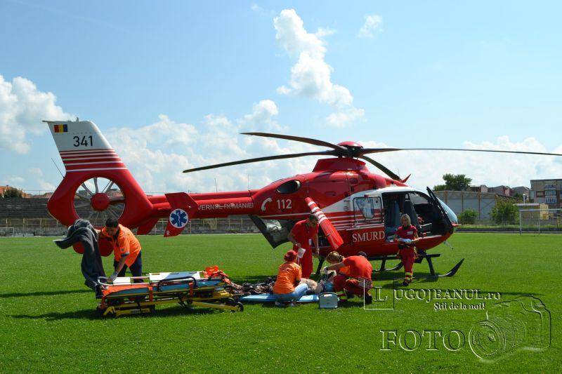 accident de munca lugoj elicopter smurd 25 iulie 2014 timisorii firma barbat picat in cap coma traumatism (9)