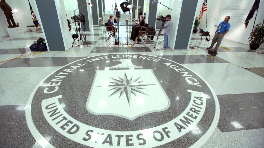 Image: Richard Engel interview CIA museum curator Toni Hiley
