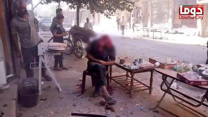 barbat cap explodat siria la cafea
